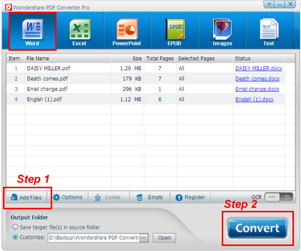 Como converter pdf para word at mesmo os arquivos digitalizados pdf converter pro convert pdf to word interface stopboris Gallery